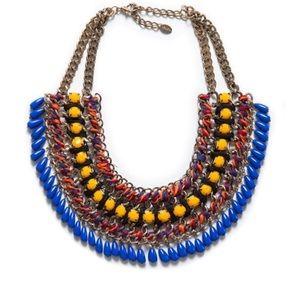 Zara Chnky Beaded Necklace